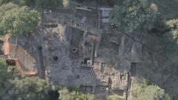 Cerveteri, santuario del Manganello: ripresa da drone dell'area scavata