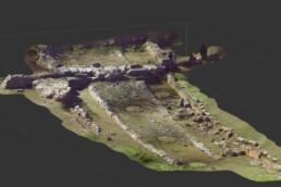 Modello tridimensionale di un tratto della via Salaria antica presso le Terme di Vespasiano a Cittaducale (RI)
