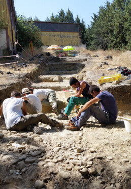 Veduta dello scavo del sito paleolitico di Notarchirico, Venosa, Italia