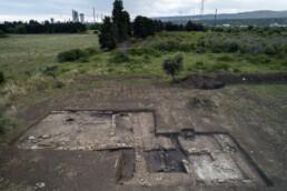 Veduta dello scavo del sito di Megara Iblea, Augusta, Italia