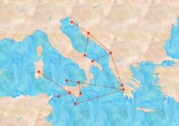 Central Mediterranean Map: simplified depiction of long-range networks in the 3rd millennium BC based on similarities in material cultur