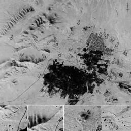 Palmira (Siria) in un'immagine Corona KH-4B del 1968.