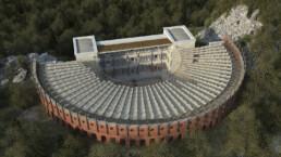 Ricostruzione virtuale del Teatro antico di Taormina