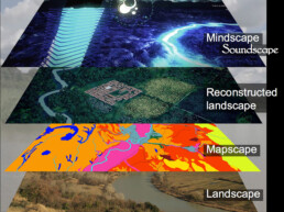 Ricostruzione del paesaggio antico e vari layer analitici ed interpretativi