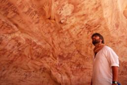 Wadi Sura, Gilf Kebir, Egitto. Grotta delle Bestie