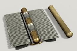 Cuma, Tomba Artìaco 104, modello digitale di affibbiagli in argento e oro