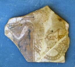 Eracle e Cerbero su un frammento vascolare del VII sec. a.C. dalla necropoli di Priniàs, Creta